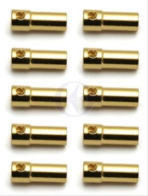 TEAM ASSOCIATED 3,5mm Goldkontakt-Stecker (10x Buchse) Thunder T