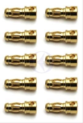Team Associated 3,5mm Goldkontakt  Stecker (10x Buchse) Thunder