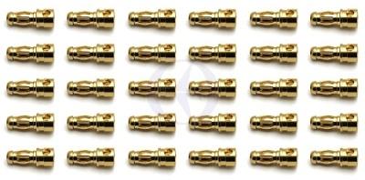 TEAM ASSOCIATED 3,5mm Goldkontakt-Stecker (30 x Stecker) Thunder