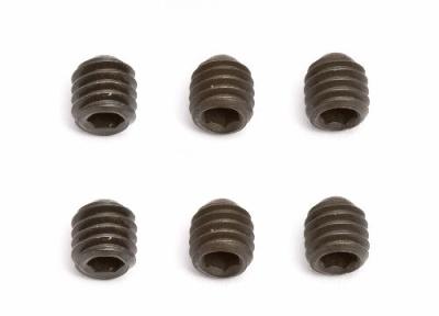 Maden-Schraube M4x4,Stahl, ISK, Schwarz (6) Thunder Tiger 0307732