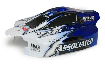 RC8.2eRS Karosserie, Blau  Team Style komplett fertig Thunder Tiger 03089590