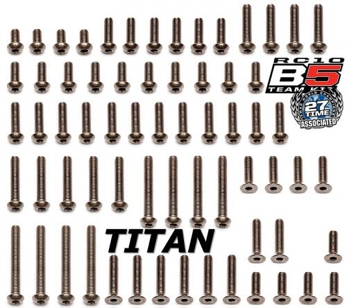 B5 Titan-Schrauben Set, M3, ISK, 66 Stück Thunder Tiger 03091601