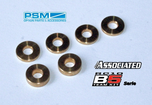 PSM B5/T5 Serie Scheiben-Set, Messing (6) Thunder Tiger 032PS016