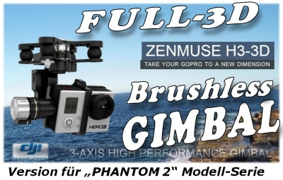 DJI ZENMUSE H3-3D Gimbal PHANTOM 2 Version Thunder Tiger 036H3DP2 Sonderposten