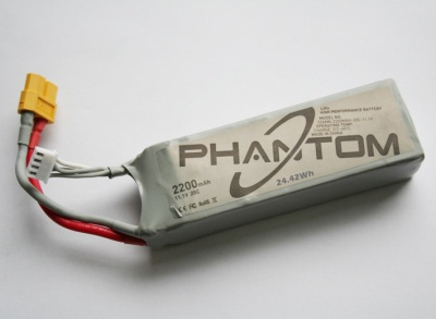 DJI PHANTOM LiPo 3S 2200mAh 11.1V  24.42Wh Thunder Tiger 036P330-12