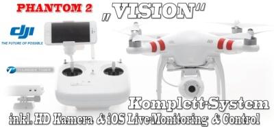 DJI PHANTOM 2 VISION QuadroCopter GPS RTF Full-HD Kamera Thunder Tiger 036vision