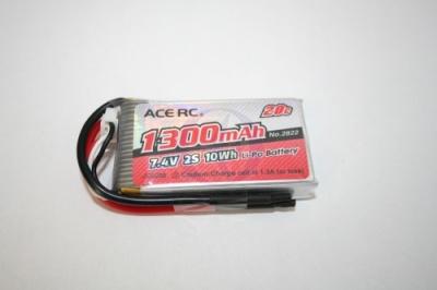 LiPo 2S-1300 20C 7,4V, ACE Thunder Tiger 2822