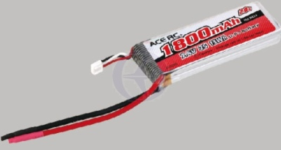 LiPo 2S-1800 20C 7,4V, ACE Thunder Tiger 2824