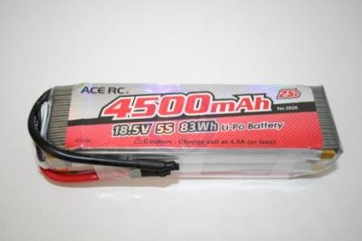 LiPo 5S-4500 25C 18,5V, ACE Thunder Tiger 2828