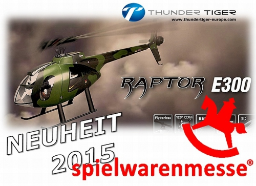 RAPTOR E300 MD Flybarless ARTF Elektro Scale Helikopter Thunder Tiger 4725-A13
