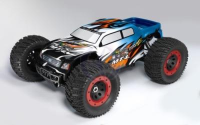 MT-4 G3 Monster truck 1:8 Brushless RTR 2,4GHz Blau Thunder Tige