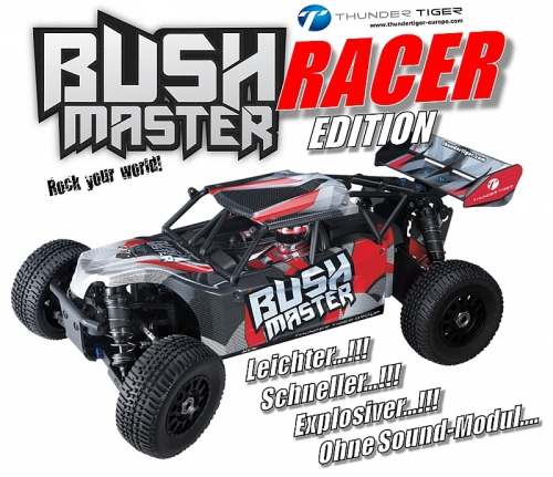 BUSHMASTER RACER Edition 1:8 Brushless 4WD ROT RTR Thunder Tiger 6410-F112-S