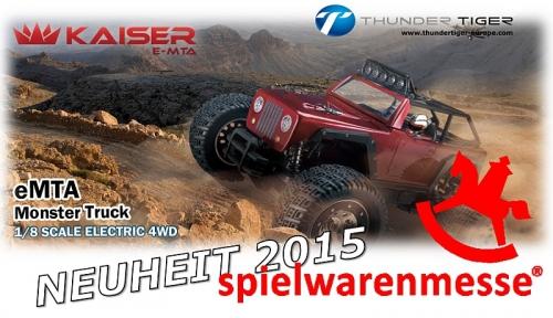 KAISER e-MTA 1:8 Brushless 4WD EXTREME Monster-Truck RTR Thunder