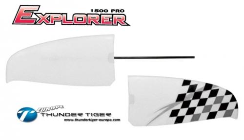 EXPLORER 1500 PRO Ersatz-Höhen-Leitwerk, EPO Material Thunder Tiger AS2003