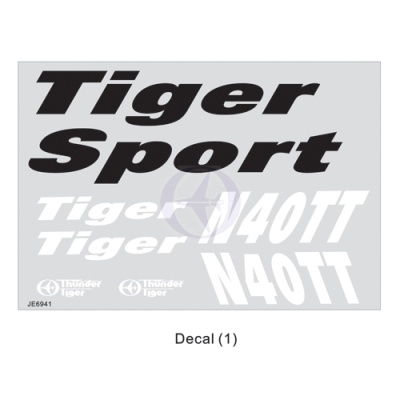 Dekorbogen Tiger Sport Thunder Tiger AS6632