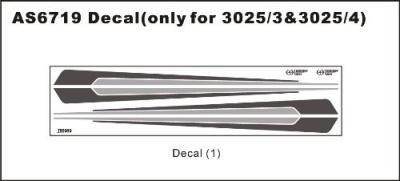 Dekorbogen 3025/3 & 3025/4 Thunder Tiger AS6719