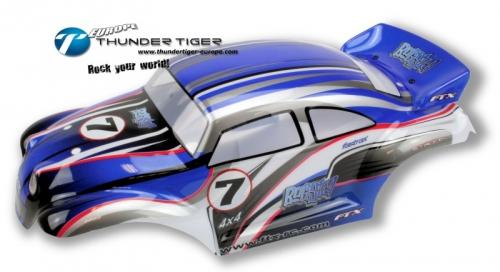 FTX BUGSTA MONSTER Karosserie 1:10, BLAU Thunder Tiger FTX6449B