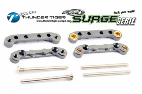 FTX SURGE Tuning Querlenker-Halter Alu CNC, Komplett-Set Thunder Tiger FTX7324
