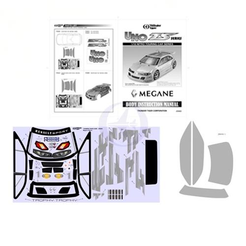 Dekorbogen Megane TS-4N Thunder Tiger PD6645