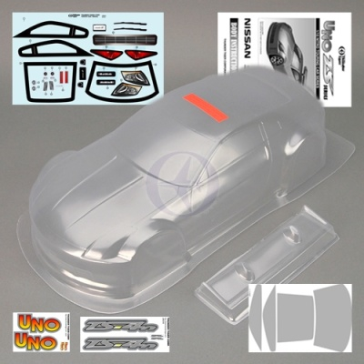 Karosserie klar + Dekorbogen Nissan 350 Z TS4 Thunder Tiger PD68