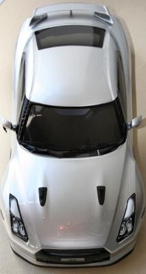 Karosserie NISSAN GT-R R35 lackiert & dekoriert, Silber Thunder Tiger PD6911