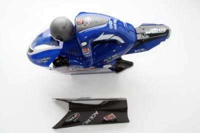 Karosse & Fahrer blau lackiert 6574 Thunder Tiger PD9036-L