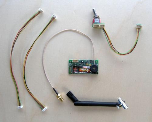 2.4GHz Jeti Duplex TU2 Sender Modul für Graupner MC mit Umschalter