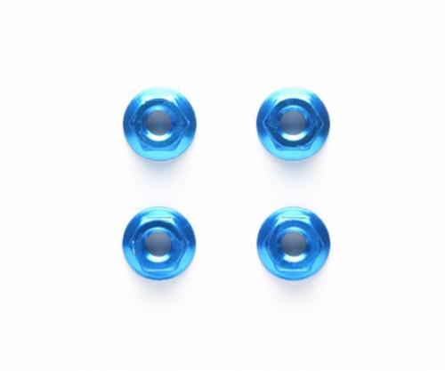 Alu Mutter 4mm geriffelt blau (4) Tamiya 42143 300042143