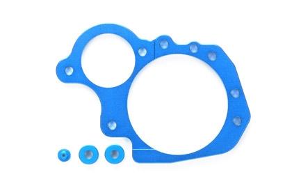 M-06 Alu Getriebegehäuse-Platte blau el. Tamiya 54269 300054269