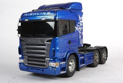 1:14 RC Scania R620 6x4 Highl.blau lack. Tamiya 56327 300056327