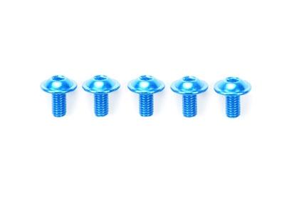 Alu Bund-Schraube 3x8mm  blau (5) Tamiya 84107 300084107