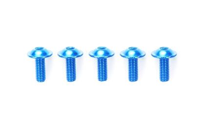 Alu Bund-Schraube 3x6mm  blau (5) Tamiya 84108 300084108