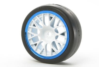 24mm/MN Y-Speichenfelge (4)weiss/blau +2 Tamiya 84240 300084240