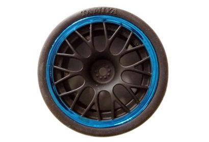 24mm/MN Y-Speichenfelge (4) sw/blau +2 Tamiya 84252 300084252