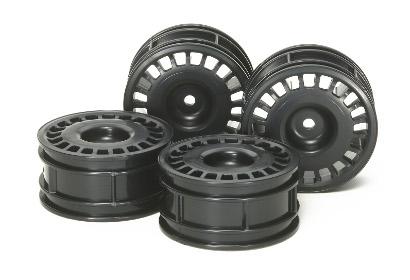 Rally Disc Felgen 26mm sw (4) Oset+2 Tamiya 84272 300084272