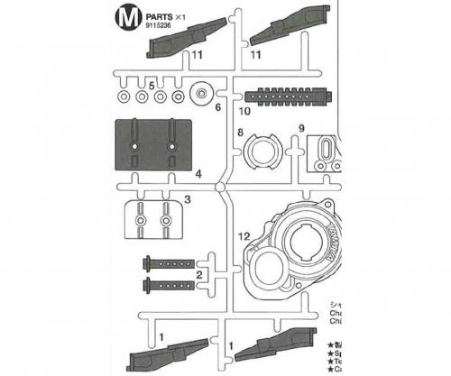 M-Teile 58416 Tamiya 9115236