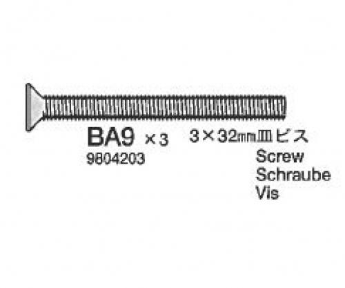 3x32mm Kopfschr.gesenkt 2x Tamiya 9804203