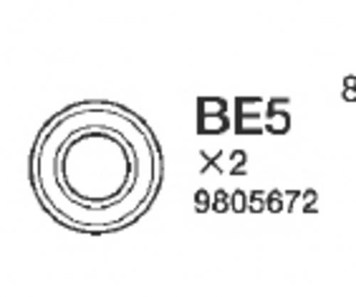 KUGELLAGER 840 (2) Tamiya 9805672