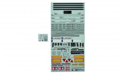 Sticker MB Actros 3363 / 56348 Tamiya 9495885 319495885