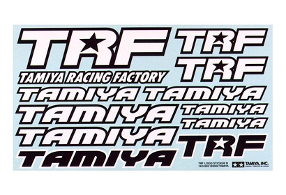 TRF AUFKLEBER SCHWARZ/WEISS Tamiya 53503