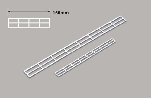 Geländer (HO) x 150mm Plastruct