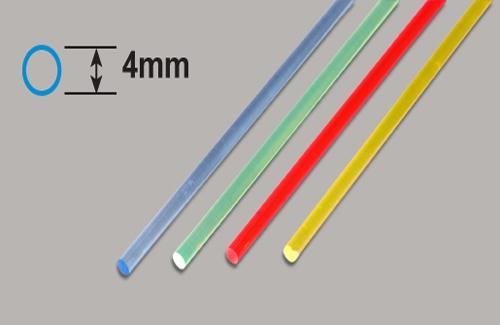 Transparente Stäbe - Blau  4 x 250mm Plastruct