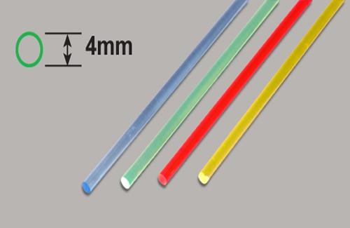Transparente Stäbe - Grün 4 x 250mm Plastruct