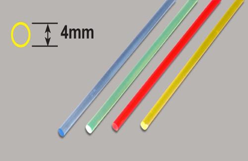 Transparente Stäbe - Gelb 4x 250mm Plastruct