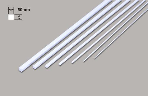 Vierkant - Mikrostäbe - .50 x .50 x 250mm Plastruct