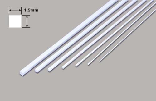 Vierkant - Mikrostäbe - 1.5 x 1.5 x 250mm Plastruct