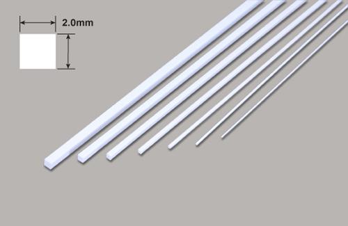 Vierkant - Mikrostäbe - 2.0 x 2.0 x 250mm Plastruct