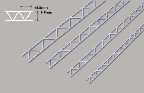 Leiterträger diagonal - 9.5 x 15.9 x 150mm Plastruct