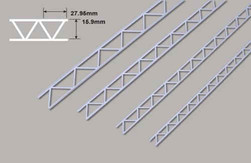 Leiterträger diagonal-15.9 x 27.95x 300mm Plastruct