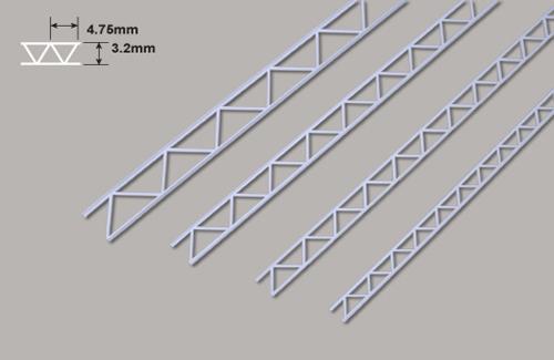 Leiterträger diagonal-3.2 x 4.75 x 150mm Plastruct
